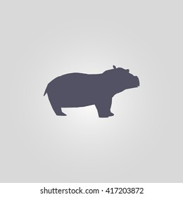 hippo icon. safari animal