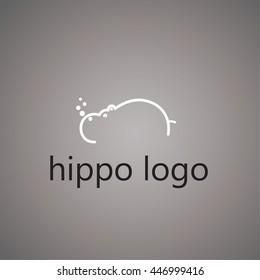 hippo logo on background