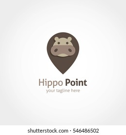 Hippo Point Logo Design Template.
