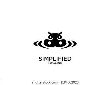 hippo unique logo icon designs vector