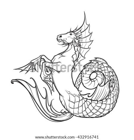 Hippocampus Greek Mythological Creature Kelpie Scottish ...