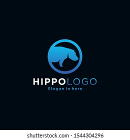 Hippopotamus icon illustration isolated vector sign symbol