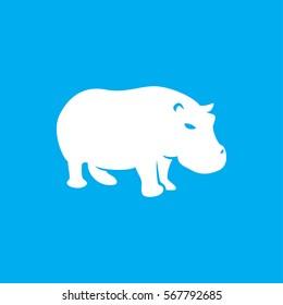 hippopotamus icon. illustration isolated vector sign symbol