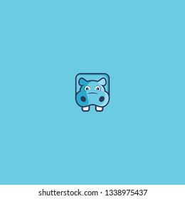 hippopotamus logo icon