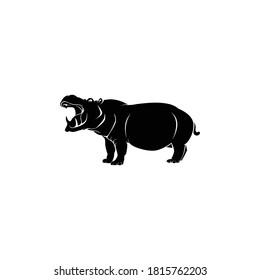 Hippopotamus Logo Template Design Vector