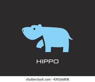 hippopotamus Logo Vector