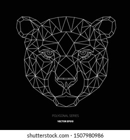 Hipster animal polygonal cheetah face. Triangle animal