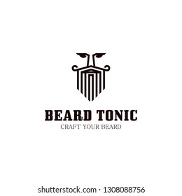 hipster beard logo design