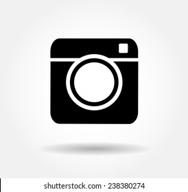 Hipster camera photo  Vector button illustration EPS 10,jpg,jpeg instagram,logo,background social network black instagra icon.Media symbol 2016