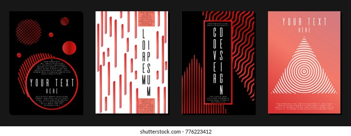 Hipster coverage design for your business. Vector cover design. Can be used for poster, brochure, magazine, card, book, flyer, banner, anniversary. Trendy corporate style.