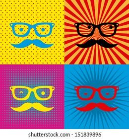 hipster design over grunge background vector  illustration