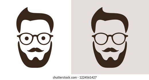 Hipster fashion - man with retro vintage glasses and stylish haircut. Style and cool look of hipster generation and subculture. Vector illustration
