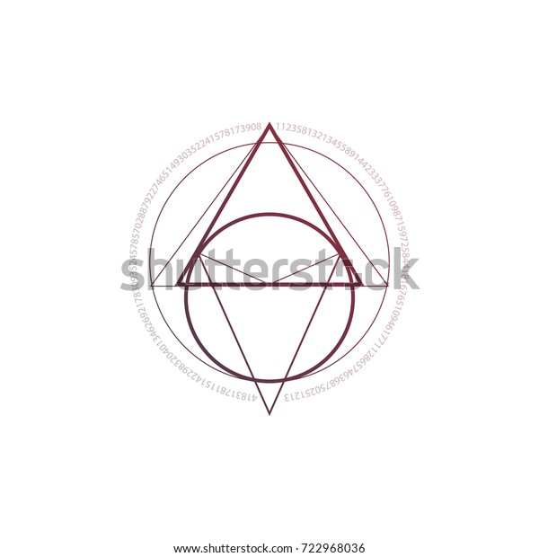 eecd3f180 Hipster geometric minimal tattoo with interlocking triangles and circles.
