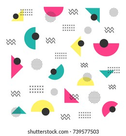hipster geometric pattern, isolated on white background