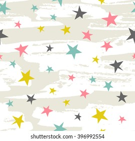 Hipster Geometric Star seamless Pattern. Vector Star Pattern Background