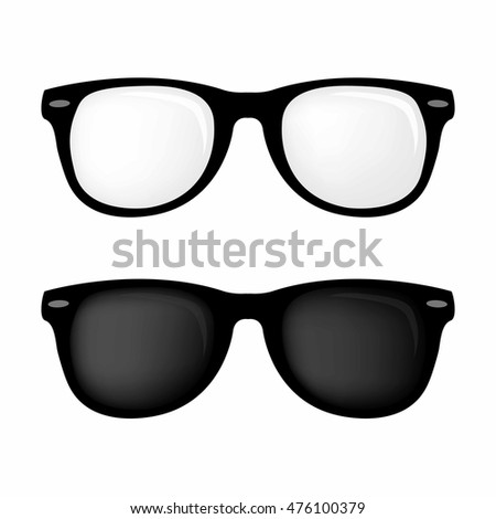 06dcaf92c40 Hipster Glasses Sunglasses Vector Set Stock Vector (Royalty Free ...