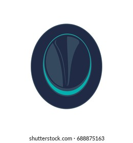 Hipster hat isolated vector icon. Fedora hat, modern clothing illustration.