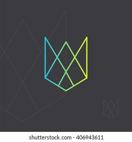 Hipster icon, geometric logo. Minimal design. Outline.