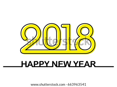 Hipster Inscription Lines Happy New Year Stock Vector (Royalty Free ...