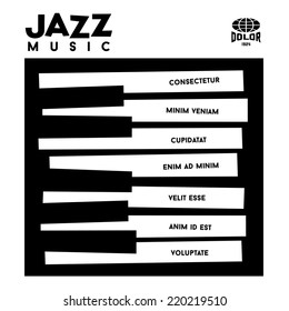 hipster jazz album cover with piano  keyboard