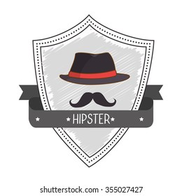 Hipster lifestyle and fashion accesories graphic design, vector illustration