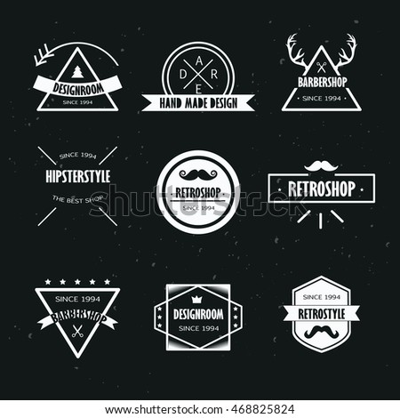 hipster logo design set vintage styled stock vector royalty free