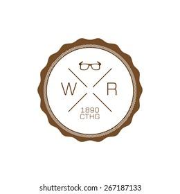 Hipster logo fashion glasses clothing