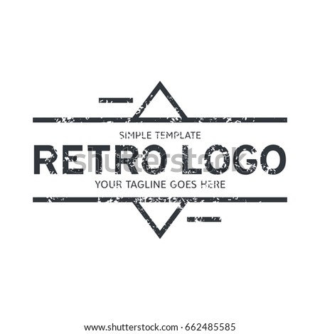 Hipster Logo Template Stock Vector (Royalty Free) 662485585