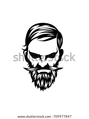 Arrogant Shop hipster male avatar icon hairstyle beard image vectorielle de stock