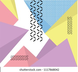 Hipster modern geometric abstract background. avangarde retro background with multicolored geometric shapes