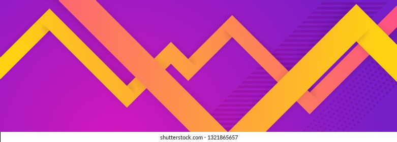Hipster modern geometric abstract background. Purple abstraction composition Bright gradient, pink and yellow color, texture. Cover template, business presentation.