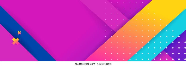 Hipster modern geometric abstract background. Bright purple banner with a trend gradient stripes, textured background. Business template for a bright color. Illusion stripes background.