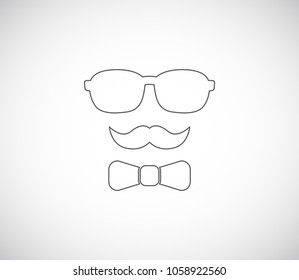 hipster outline icon