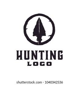 Hipster / Retro Hunting Logo Design Inspiration with arrowhead