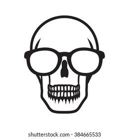 b557579bb7c5 Hipster skull vector