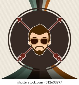 hipster style design, vector illustration eps10 graphic
