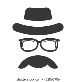 hipster style face icon vector illustration design
