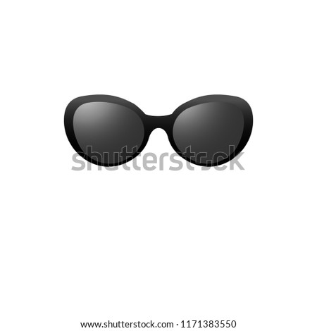 1069d433e4c Hipster sunglasses with dark glass on a white background. Vector isolated  picture.
