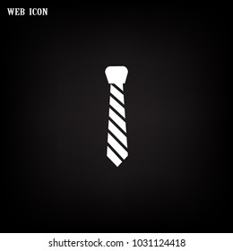 Hipster tie icon