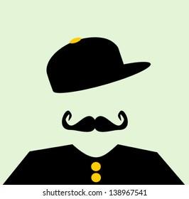 hipster wearing baseball cap sideways