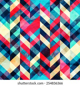 hipster zigzag seamless pattern with grunge effect