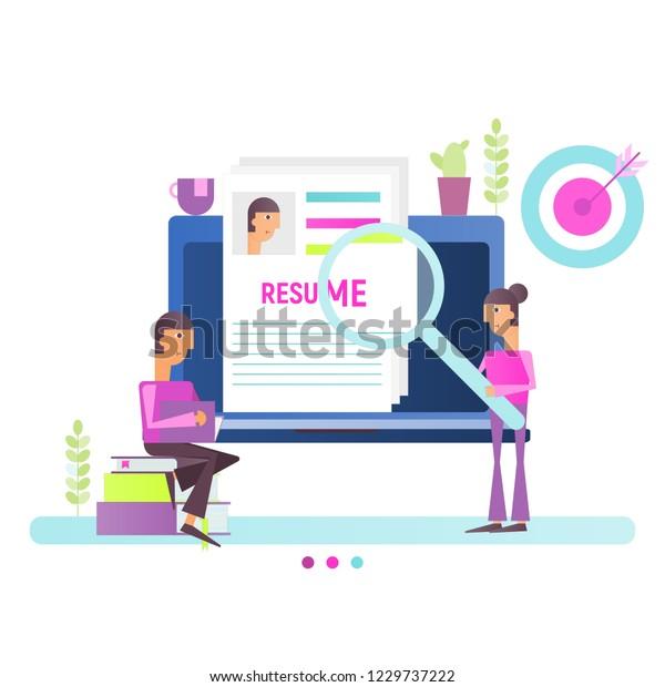 Hiring Recruitment Concept Human Resources Modern Stock