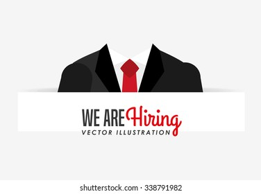 hiring workers design, vector illustration eps10 graphic