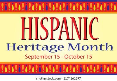 Hispanic Heritage Month Sign