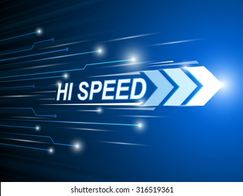 hi-speed network digital.technology abstract background vector