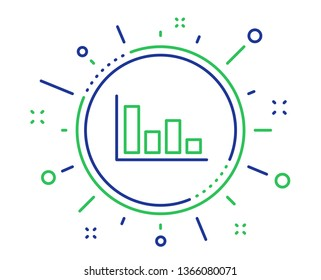 Histogram Column chart line icon. Financial graph sign. Stock exchange symbol. Business investment. Quality design elements. Technology histogram button. Editable stroke. Vector