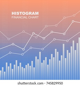 Histogram financial chart. Vector image.