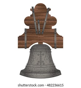 Historic Bell,  Mexico Independence Day, Isolated
