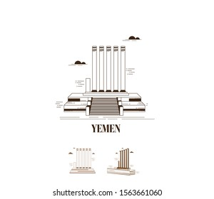 Historical and Cultural Monuments of Yemen Adobe Illustrator