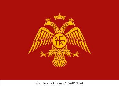 Historical flag of Byzantine Empire